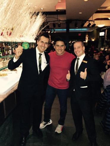 César Filho em NYC na Plataforma Churrascaria- Maitres Adriano e Mario