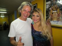 Adrhyana Rhibeiro e o Carnavalesco Wagner Santos
