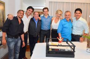 Marcelo de Nobrega, Edu Guedes, Raul Gil, Celso Portiolli, Andrea de Nobrega, Carlos Alberto e Cesar Filho