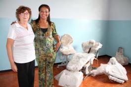 presidente da Vila dos Pobres - , irmã Elisa Tietz e Luciana Costa
