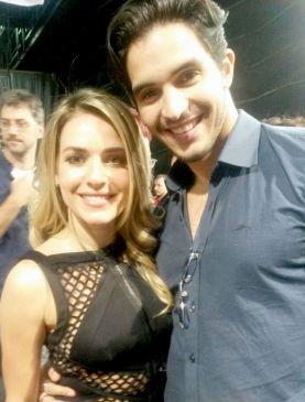 Monique Alfradique e Rafael Grisoste