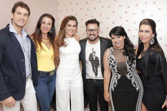 Elieser, Sorayam Kamila, João Franco, Cida Rodrigues e Denize Taccto