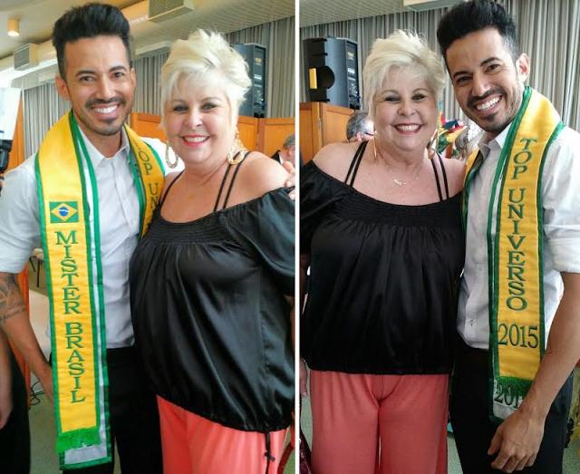 Ex-BBB vovó Naná e Mister Brasil Matheus Gouveia